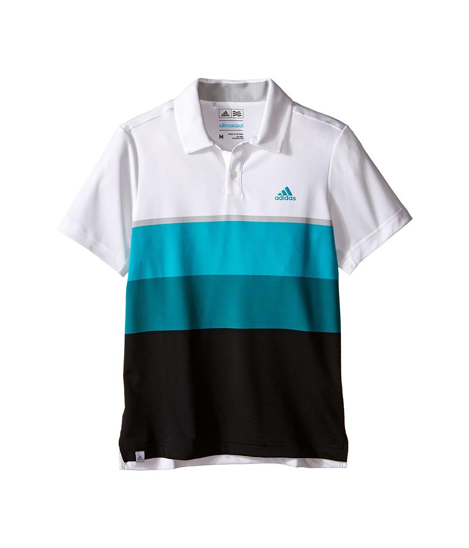 adidas Golf Kids Climacool Engineered Stripe Big Kids White/White/Stone Boys Clothing