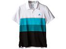 adidas Golf Kids Climacool Engineered Stripe (Big Kids) (White/White/Stone)