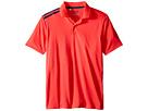 adidas Golf Kids Climacool 3-Stripes Polo (Big Kids) (Orange/Shock Red/Miner Blue)