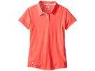 adidas Golf Kids Climalite Essentials Short Sleeve Heathered Polo (Big Kids) (Orange/Shock Red)