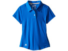 adidas Golf Kids Climalite Essentials Short Sleeve Heathered Polo (Big Kids) (Shock Blue)