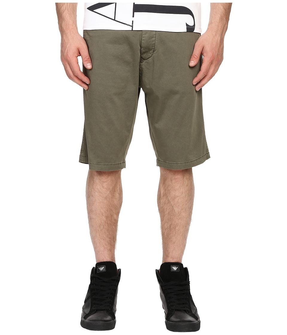 Armani Jeans Slim Low Rise Shorts Green Mens Shorts
