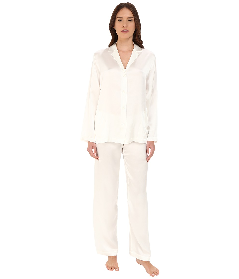 La Perla Silk Pajama (Natural) Women's Pajama Sets