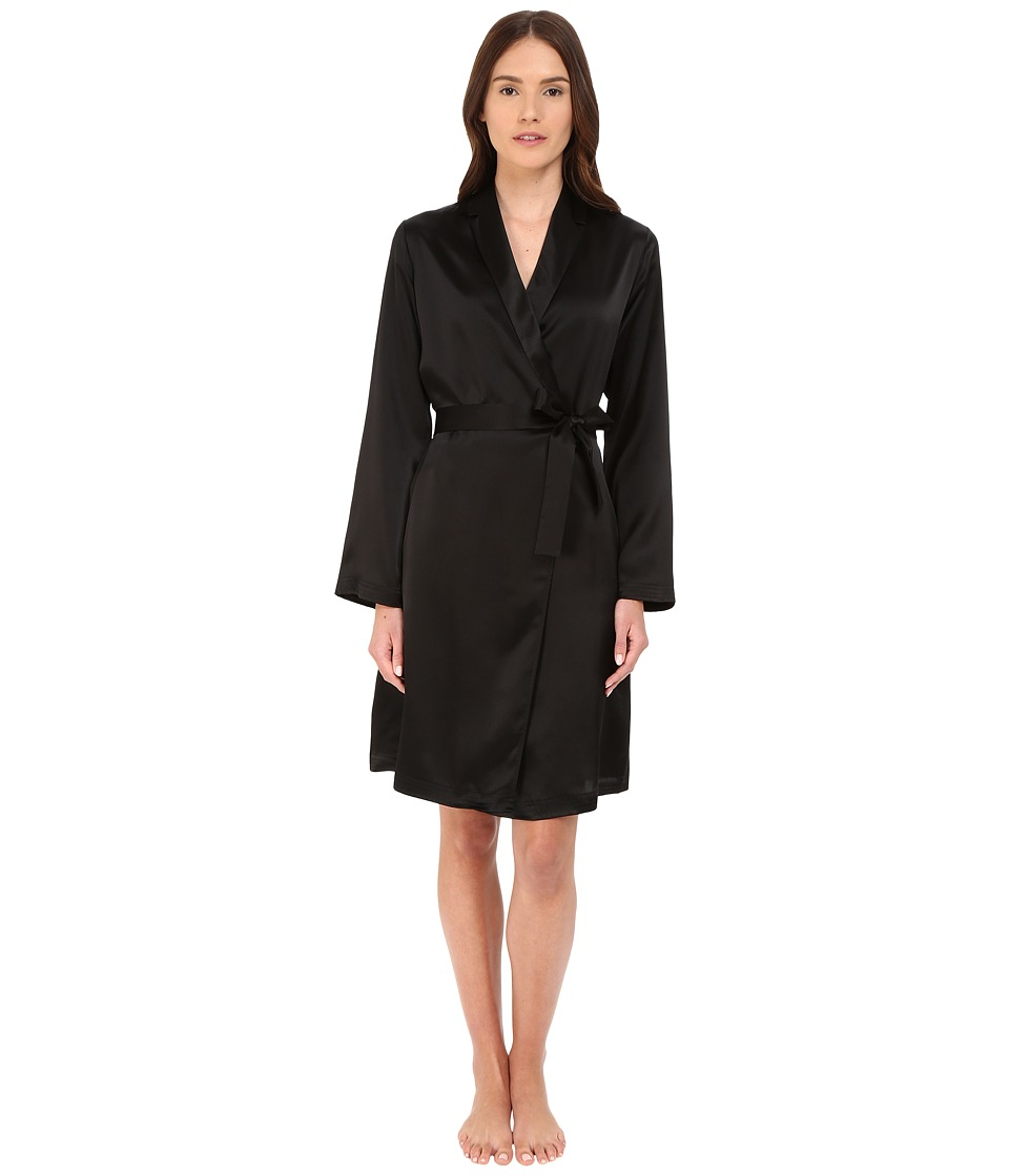 La Perla - Silk Short Robe (Black) Womens Robe