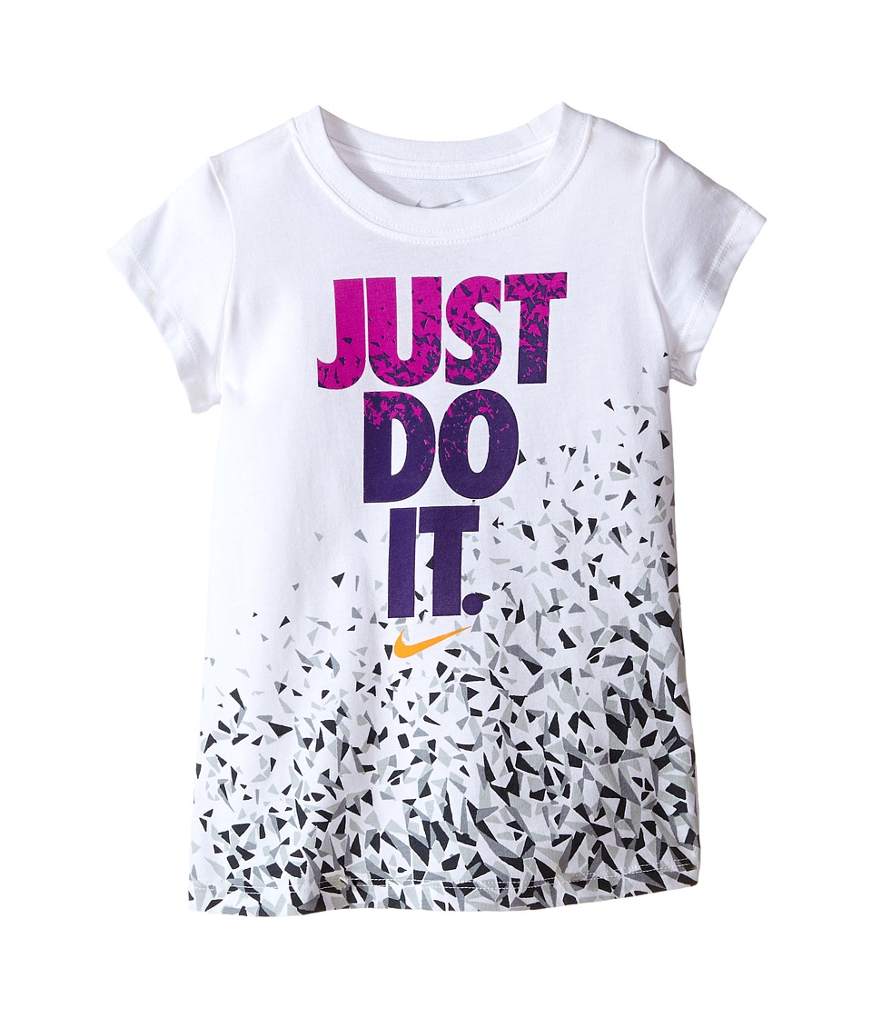 Nike Kids Just Do It Facet Short Sleeve Tee Toddler White Girls T Shirt