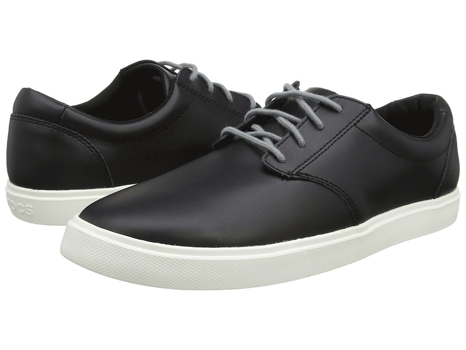 Crocs - CitiLane Leather Lace-Up (Black/White) Men