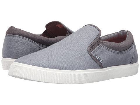 Crocs CitiLane Slip-On Sneaker - Smoke/White