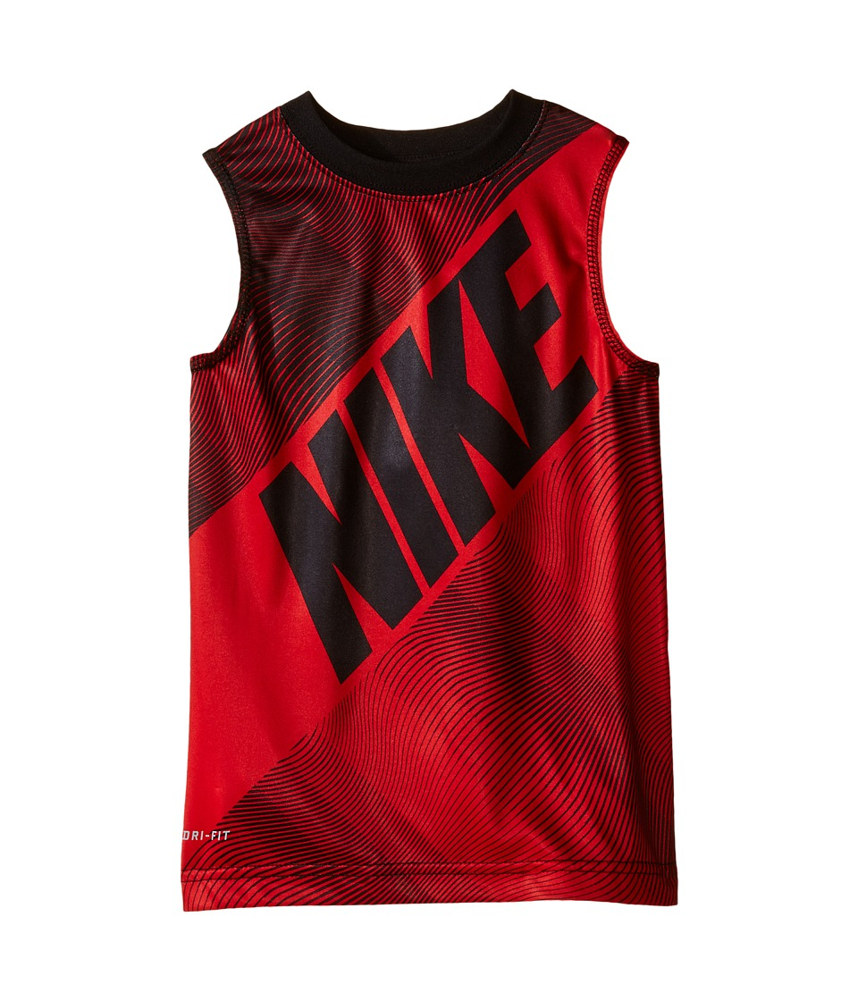 Nike Kids Block Print Dri FIT Muscle Top Toddler University Red Boys Clothing