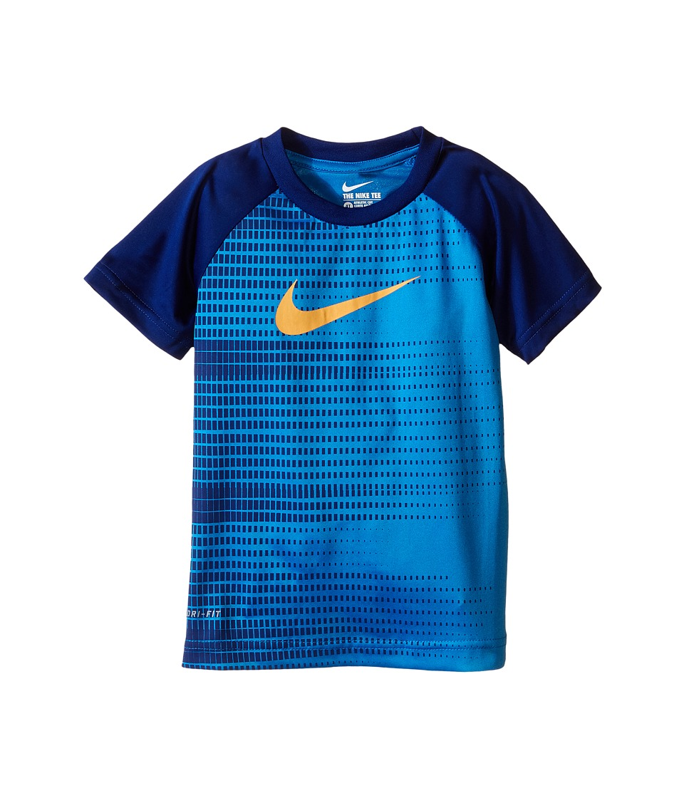 Nike Kids Speed Squares Dri FIT Short Sleeve Tee Toddler Photo Blue Boys T Shirt