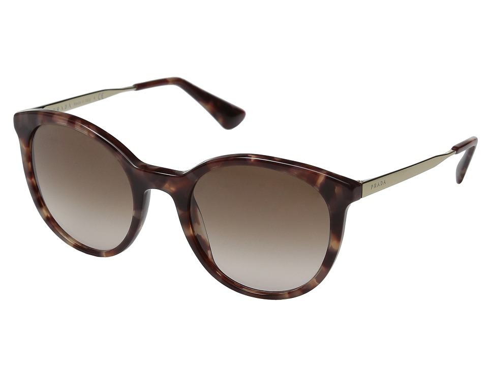 Prada 0PR 17SS Spotted Brown Pink/Brown Gradient Pink Fashion Sunglasses