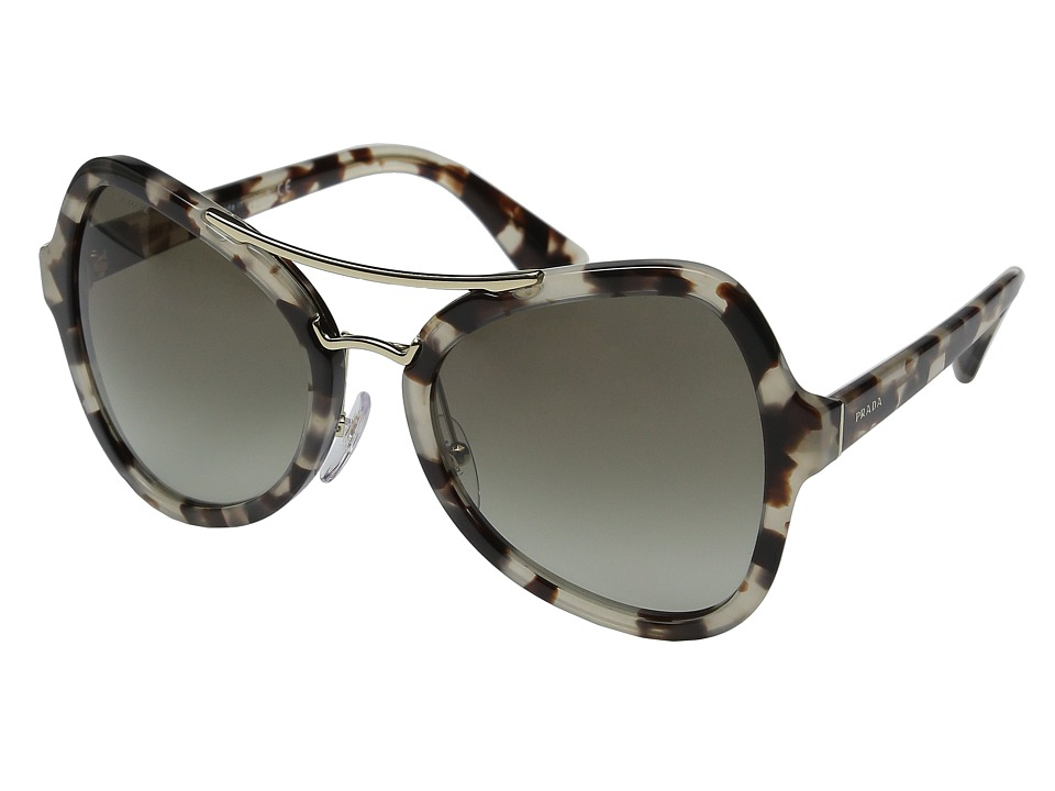 Prada 0PR 18SS Spotted Opal Brown/Green Gradient Fashion Sunglasses