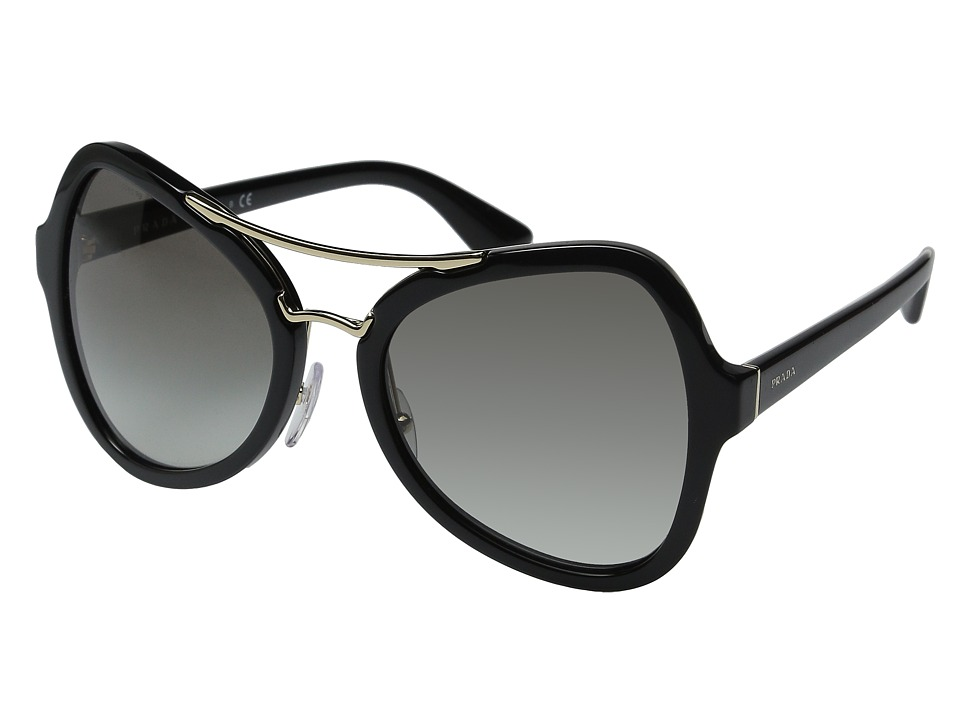 Prada 0PR 18SS Black/Grey Gradient Fashion Sunglasses