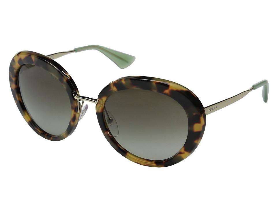 Prada 0PR 16QS Medium Havana/Green Gradient Fashion Sunglasses