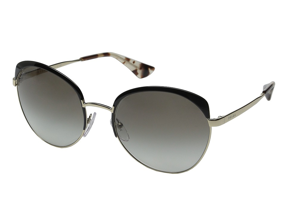 Prada 0PR 54SS Black/Pale Gold/Grey Gradient Fashion Sunglasses