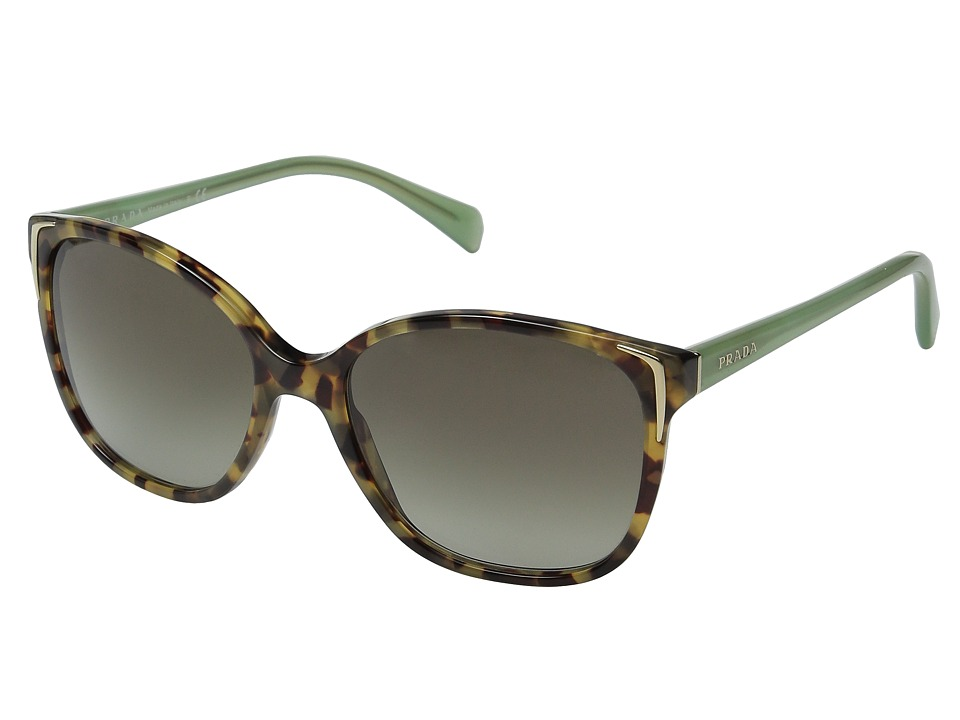 Prada 0PR 01OS Spotted Brown Green/Green Gradient Fashion Sunglasses