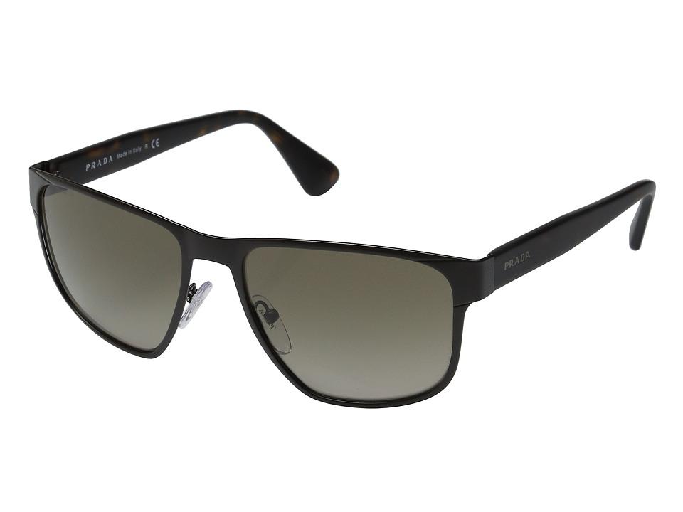 Prada 0PR 55SS Matte Brown/Brown Gradient Fashion Sunglasses