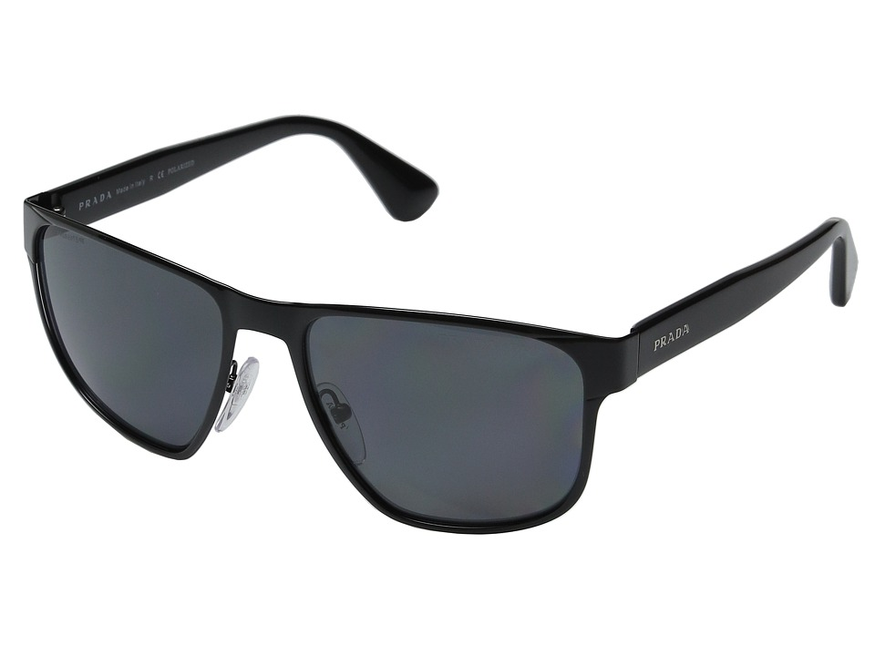 Prada 0PR 55SS Black/Grey Polarized Fashion Sunglasses