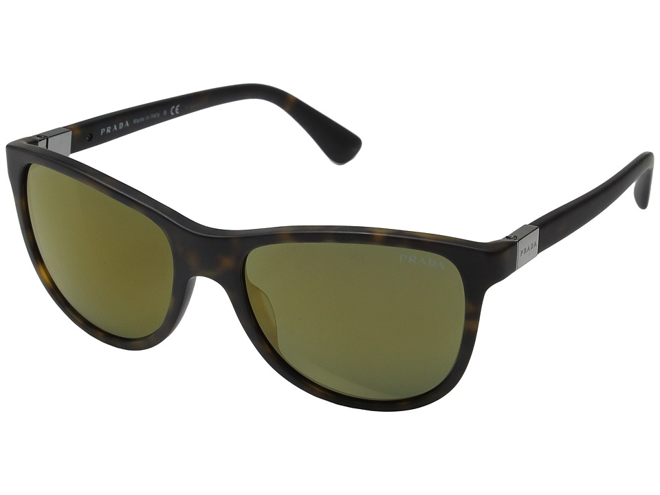 Prada 0PR 20SS Matte Havana/Mirror Brown Fashion Sunglasses