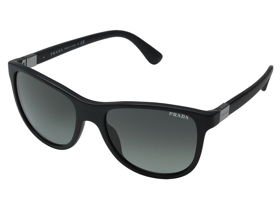 Prada 0PR 20SS Matte Black/Grey Gradient Fashion Sunglasses