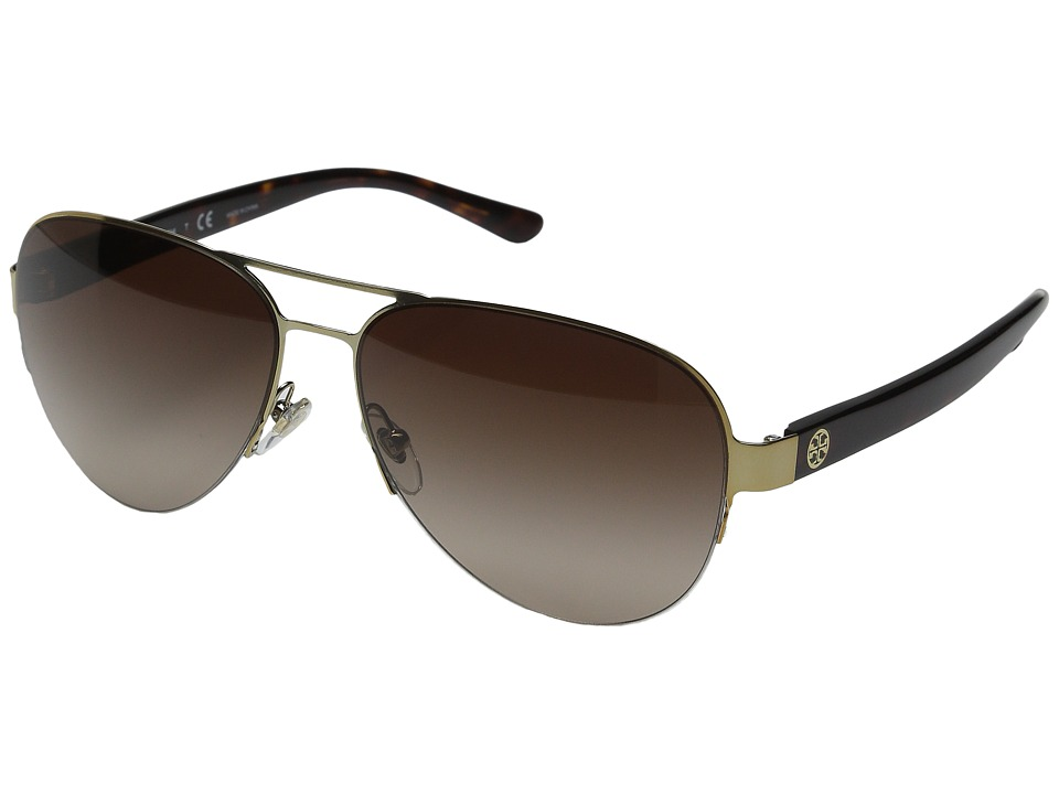 Tory Burch - 0TY6048 59mm (Gold/Tortoise/Brown Gradient) Fashion Sunglasses