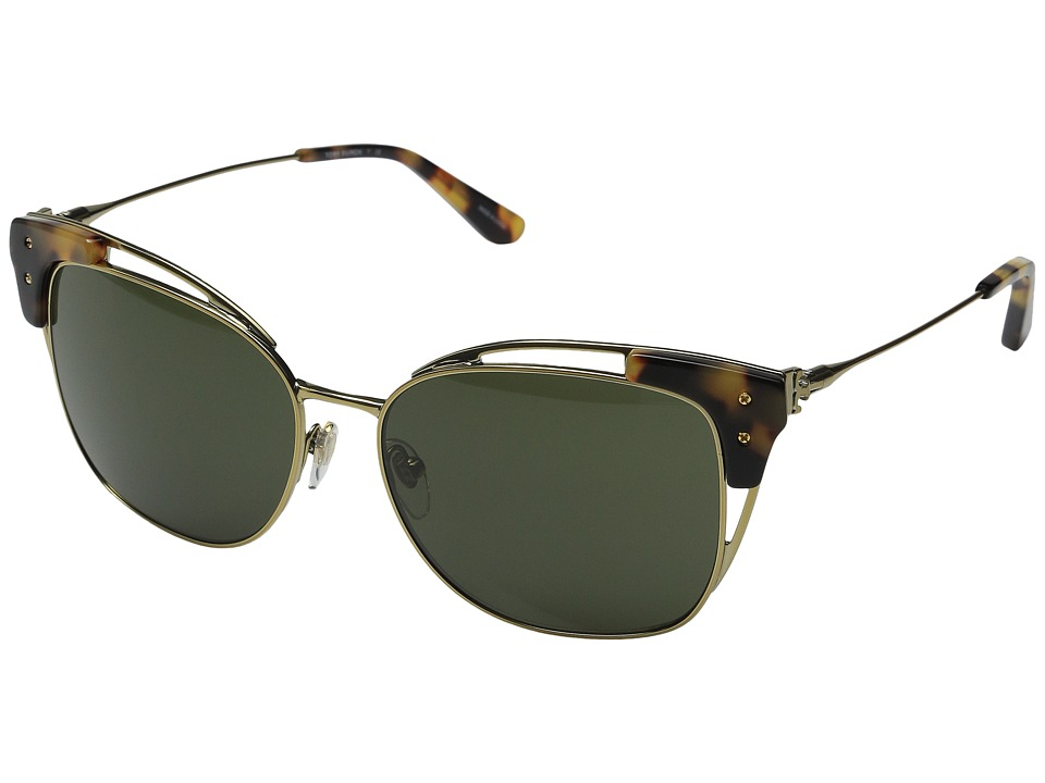 Tory Burch 0TY6049 Gold/Tokyo Tortoise/Green Solid Fashion Sunglasses