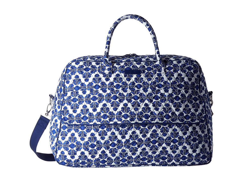 Vera Bradley Luggage - Grand Traveler (Cobalt Tile) Duffel Bags