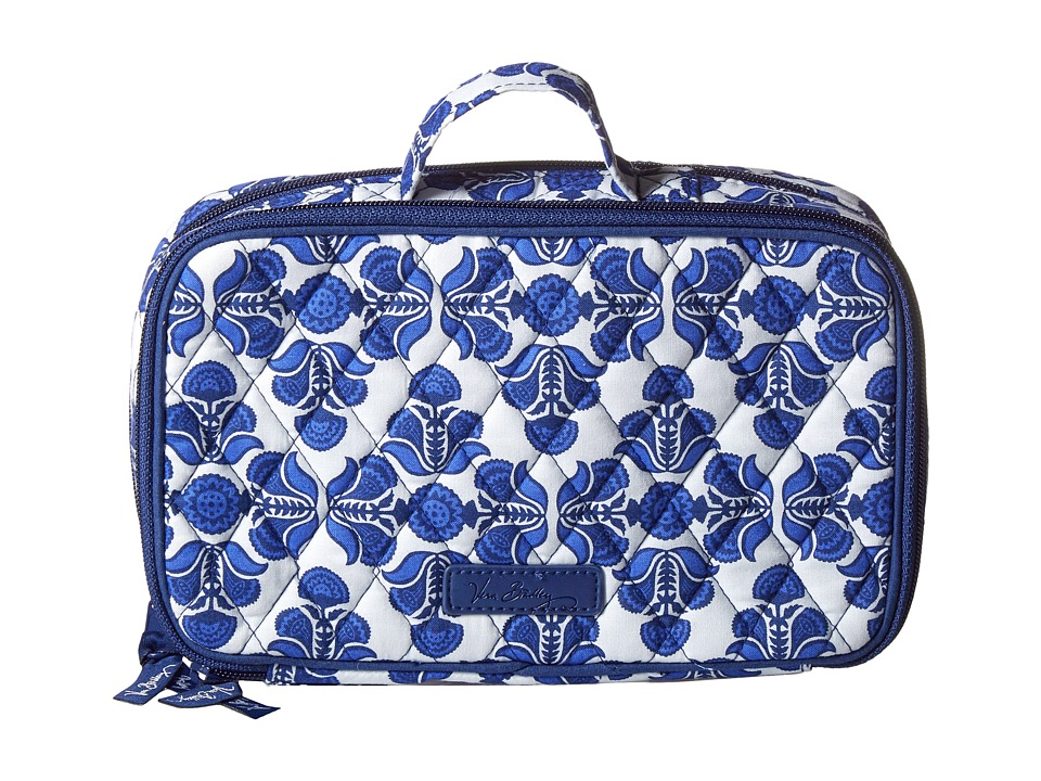 Vera Bradley Luggage - Blush Brush Makeup Case (Cobalt Tile) Cosmetic Case