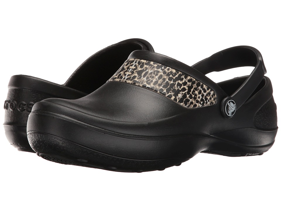 Crocs Mercy Work (Black/Gold) Women's Clogs