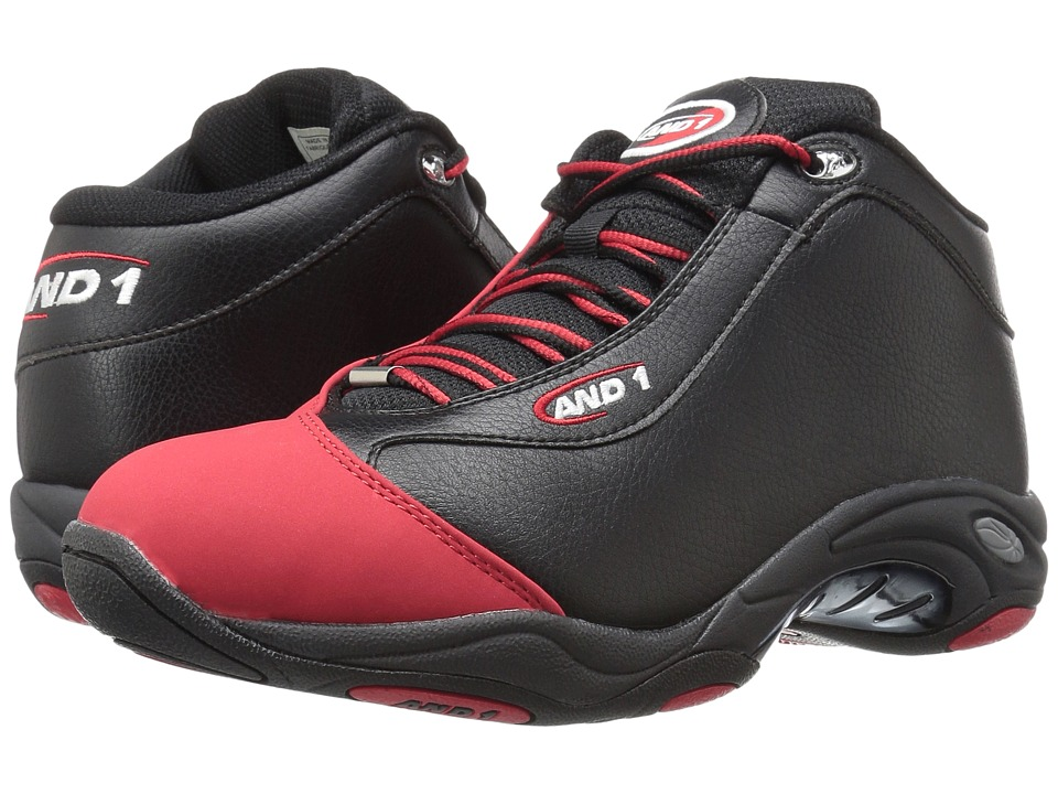 AND1 - Tai Chi (Black/F1 Red) Mens Basketball Shoes