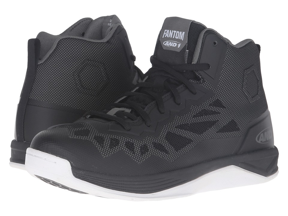 AND1 Fantom II (Black/Gunmetal/White) Men's Basketball Shoes