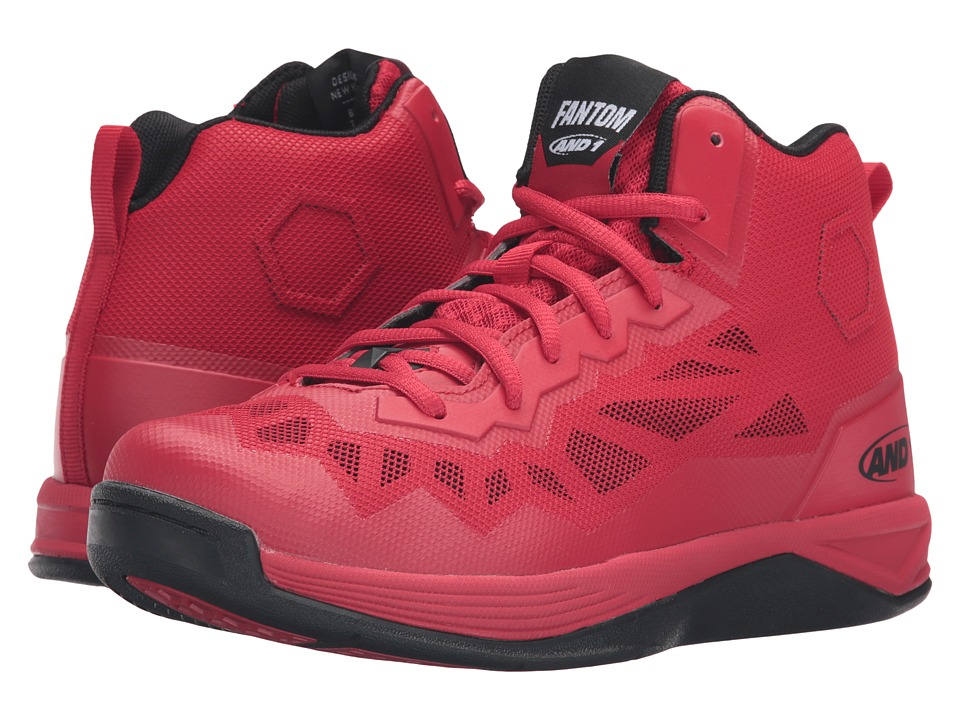 Image of AND1 - Fantom II (F1 Red/Black) Men's Basketball Shoes