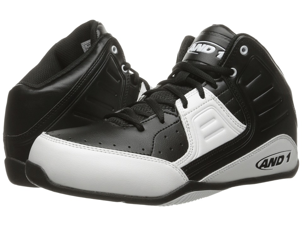 AND1 - Rocket 4 (Black/White) Mens Basketball Shoes