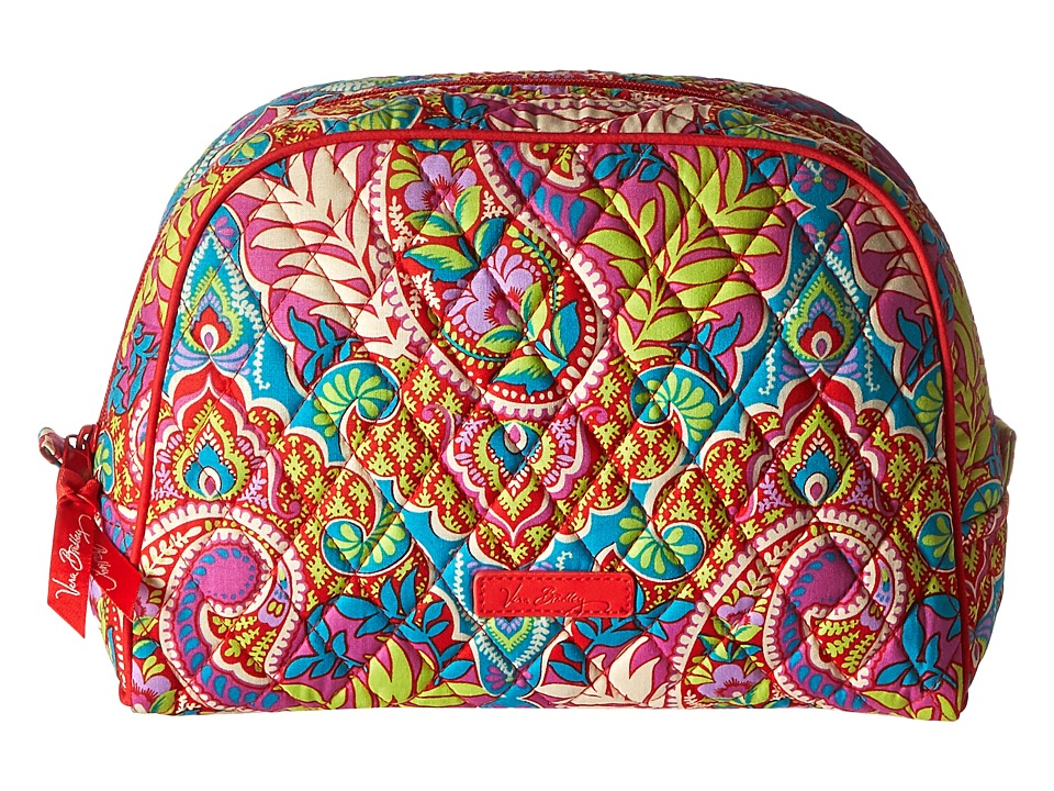 Vera Bradley Luggage Large Zip Cosmetic Paisley in Paradise Cosmetic Case