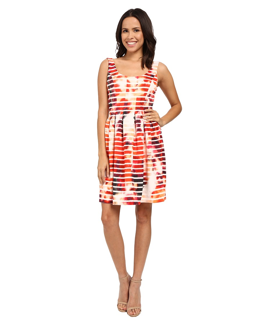 Jessica Simpson - Printed Scuba Fit and Flare (Print) Womens Dress