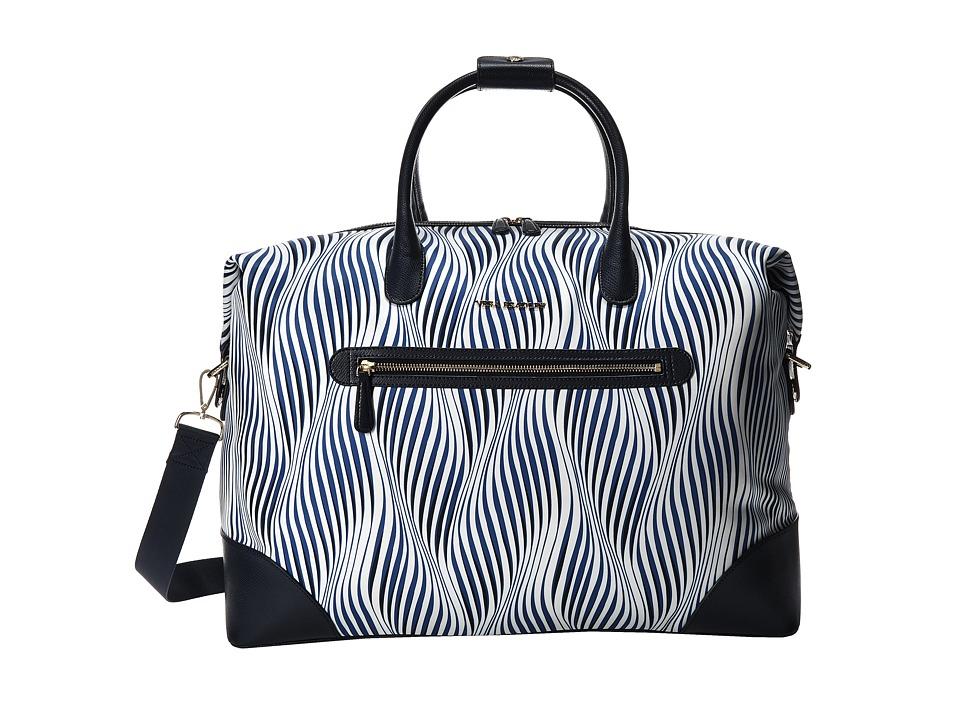 Vera Bradley Luggage - Travel Duffel (Wavy Stripe/Navy) Duffel Bags
