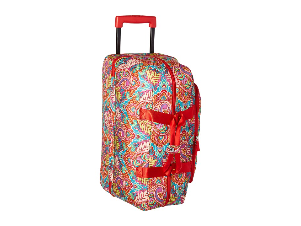 Vera Bradley Luggage - Lighten Up Wheeled Carry-on (Paisley in Paradise) Carry on Luggage