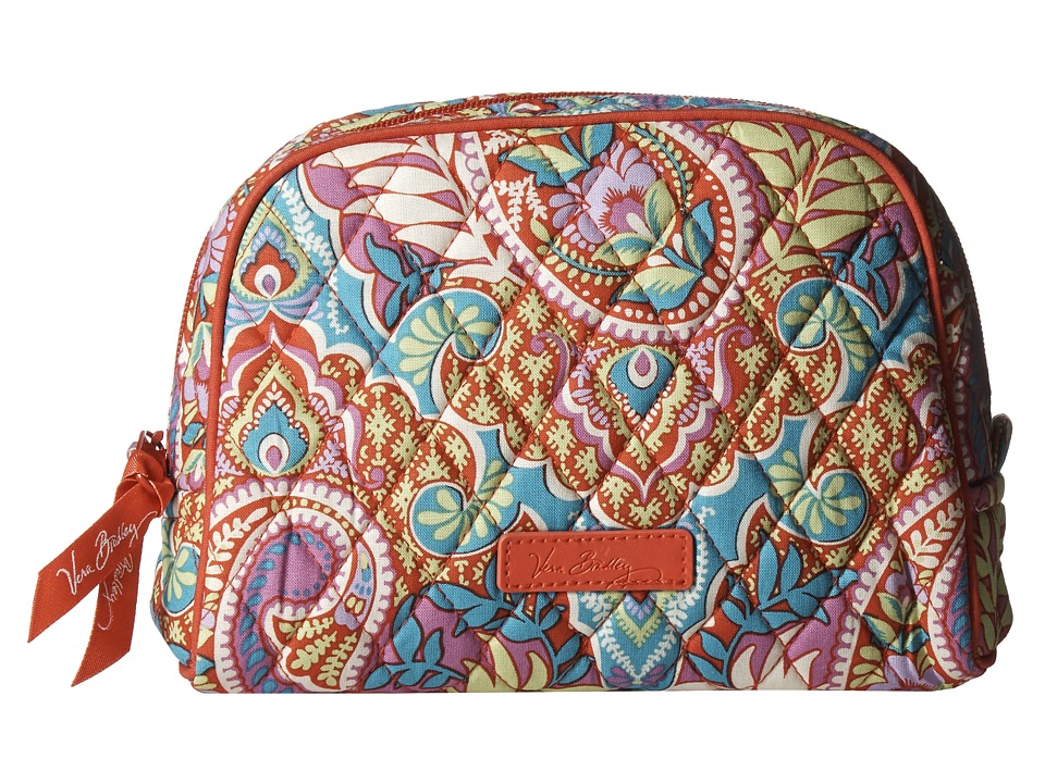 Vera Bradley Luggage Medium Zip Cosmetic Paisley in Paradise Cosmetic Case