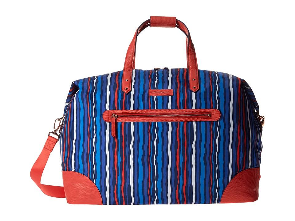 Vera Bradley Luggage - Preppy Poly Travel Duffel (Cobalt Stripe) Duffel Bags