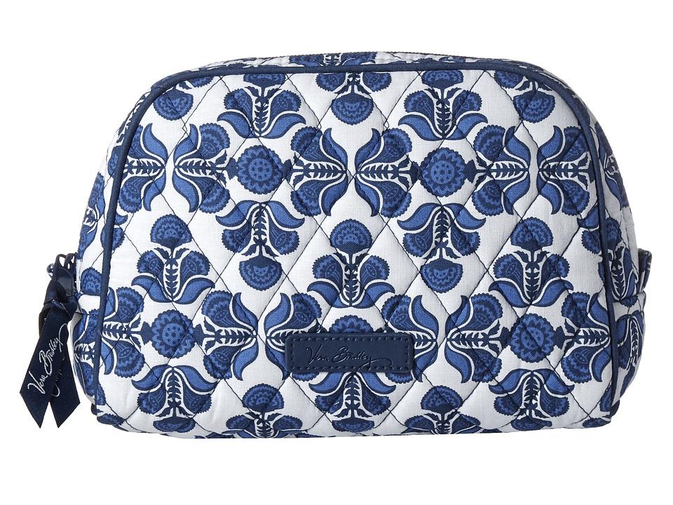 Vera Bradley Luggage Medium Zip Cosmetic Cobalt Tile Cosmetic Case