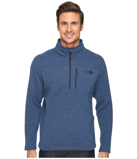 The North Face Gordon Lyons 1/4 Zip Pullover - Shady Blue Heather