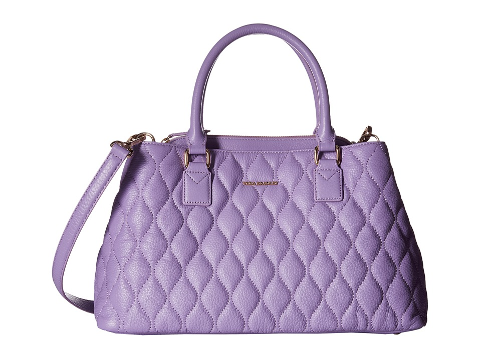 Vera Bradley Quilted Emma Satchel Lavender Satchel Handbags
