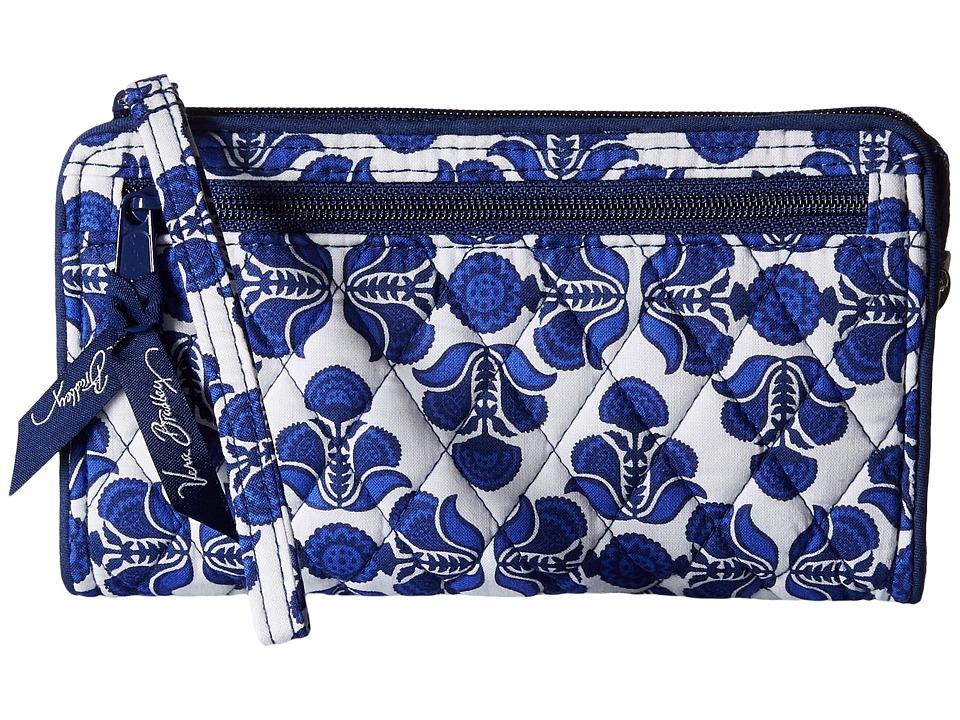 Vera Bradley Front Zip Wristlet Cobalt Tile Wristlet Handbags