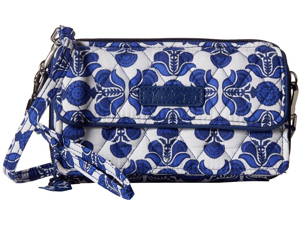 Vera Bradley All in One Crossbody for iPhone 6 Cobalt Tile Clutch Handbags
