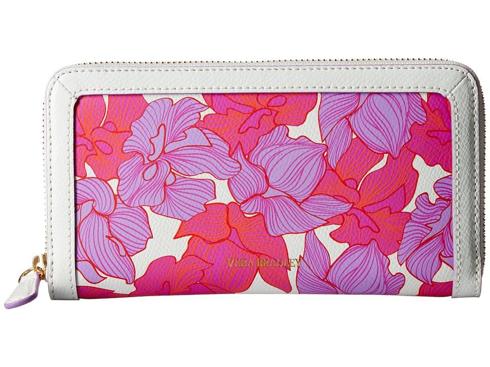 Vera Bradley Georgia Wallet Paradise Floral Lilac Wallet Handbags