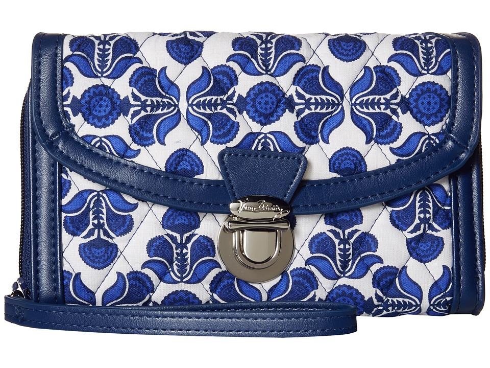 Vera Bradley Ultimate Wristlet Cobalt Tile/Navy Clutch Handbags