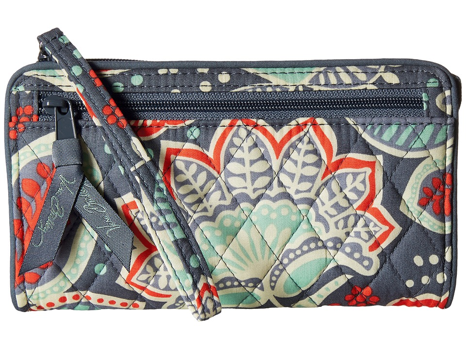 Vera Bradley Front Zip Wristlet Nomadic Floral Wristlet Handbags