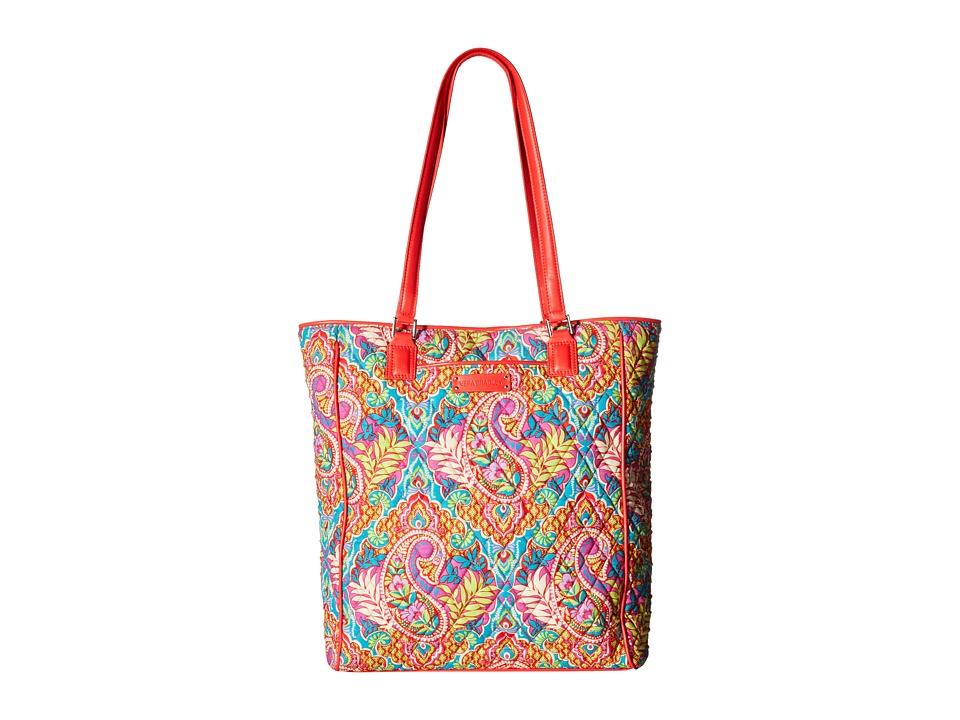 Vera Bradley Crosstown Tote Paisley in Paradise/Red Tote Handbags