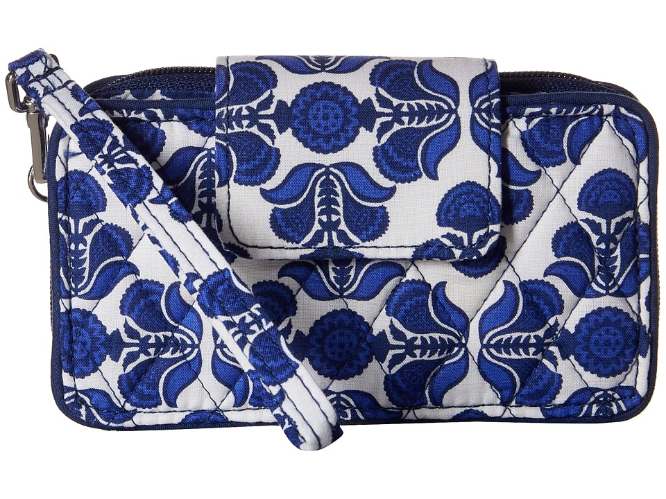 Vera Bradley Smartphone Wristlet for iPhone 6 Cobalt Tile Clutch Handbags
