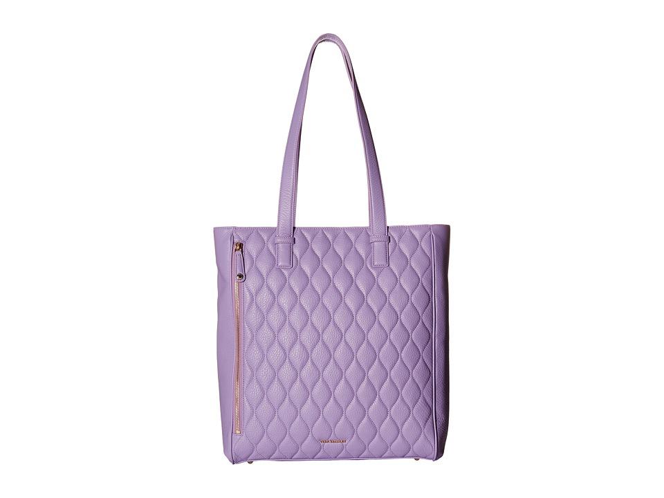 Vera Bradley Quilted Leah Tote Lavender Tote Handbags