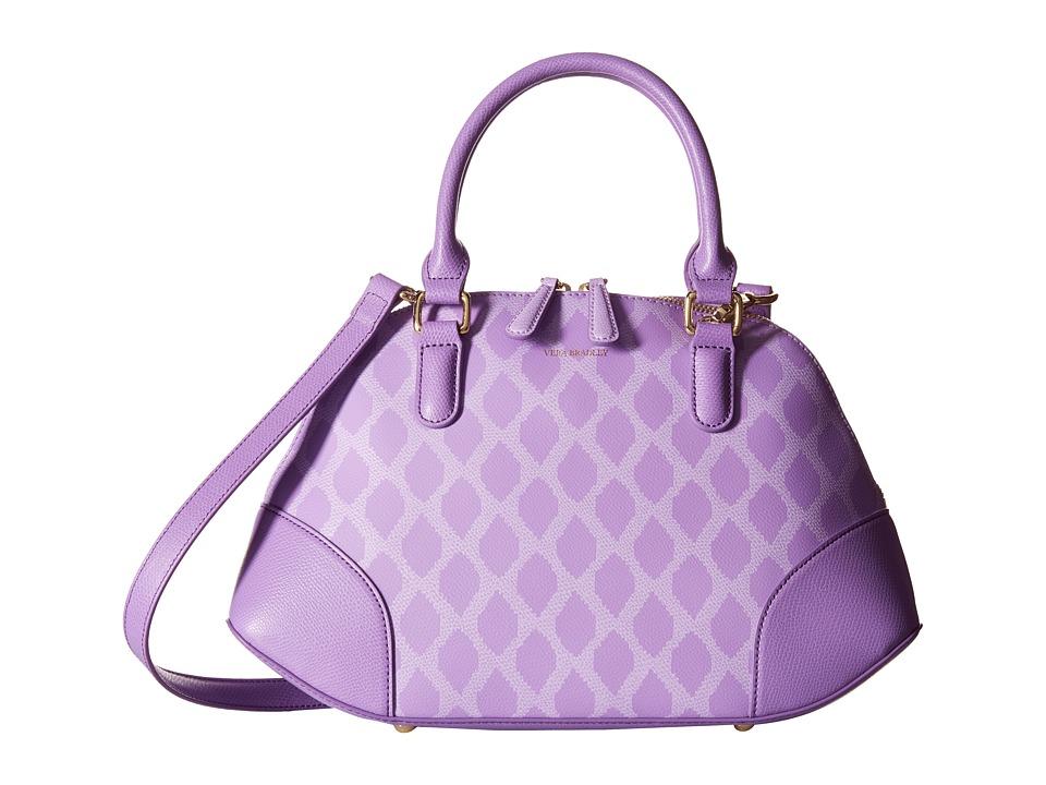 Vera Bradley Angled Bowler Ikat Diamonds Lilac Handbags